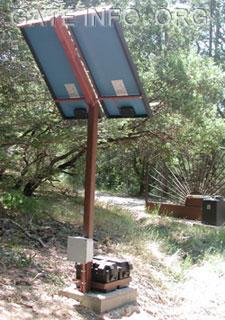 Driveway Gate Solar Panel Installation Diagram